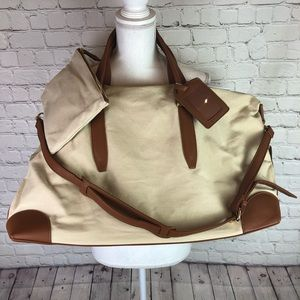 Henny + Lev canvas Weekender duffel and pouch